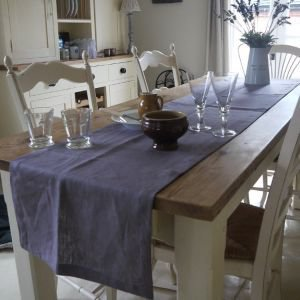 Long Linen Table Runner - Lavender
