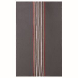 French Grey and Red Stripe Tea towel - Vertical