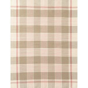 French Linen Rich Tea towel - Red and Linen Large Check