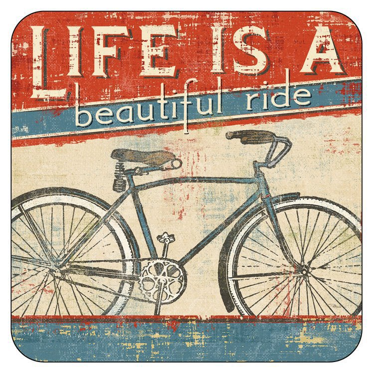 Set of 6 Bicycle Coasters