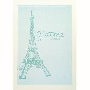 French Tea Towel - Love Eiffel Tower
