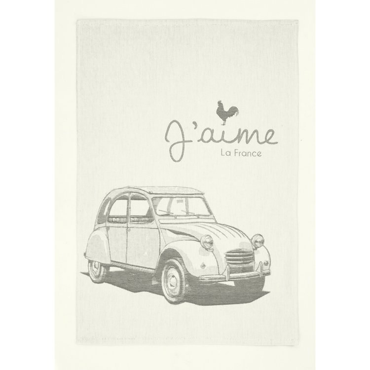 French Tea Towel - Love 2CV