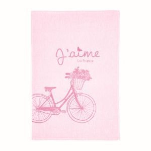 French Tea Towel - Love Bicycle