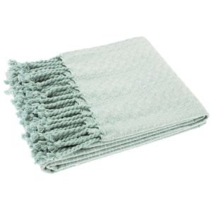 Cotton Chambray Throw Opal
