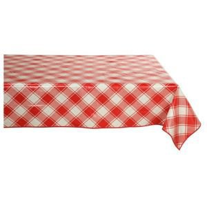 Retangular Oilcloth Tablecloth - Harlequin Red