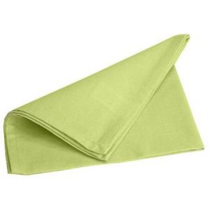 Set of 4 French Green Cotton Napkins
