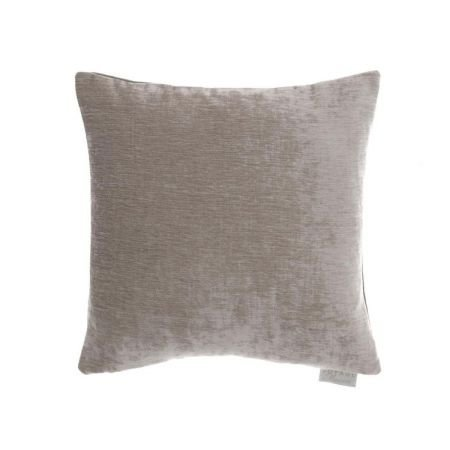 Voyage Chenile Velvet and Linen Reversible Cushion - Truffle