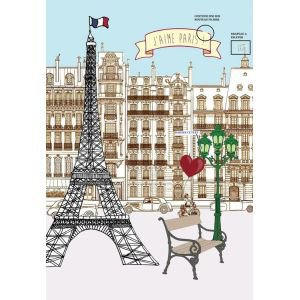 Eiffel Tower French Tea towel