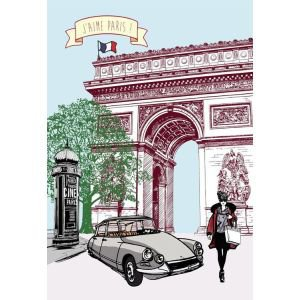 French Tea Towel Arch de Triomphe