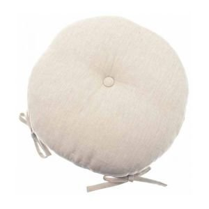 Round linen colour chair pad