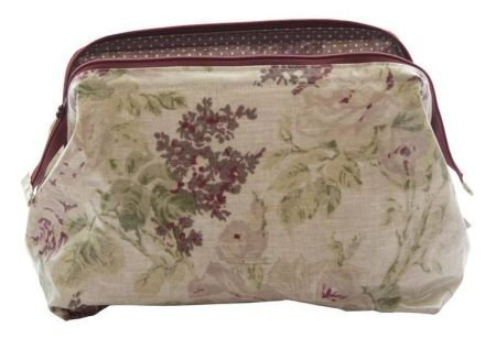 Floral oilcloth wash bag
