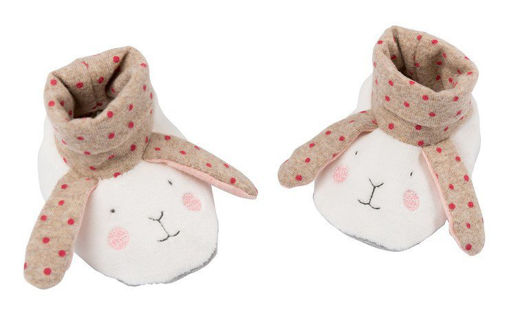 Moulin Roty Baby Slippers-Rabbit