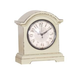 Small Green Wooden Shelf Clock