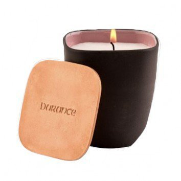Durance Scented Candle with Copper Lid-Rose at Dusk