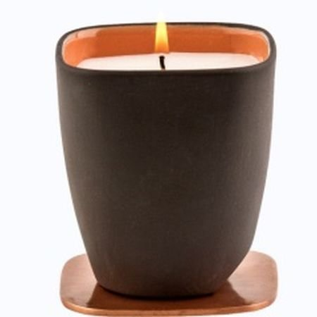 Durance Scented Candle With Copper Lid-Coffee and Croissant