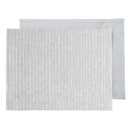 Grey Ticking Fabric Placemats