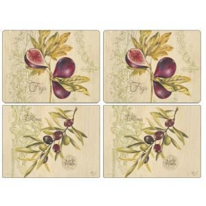 Set of 6 Fig and Olive Placemats