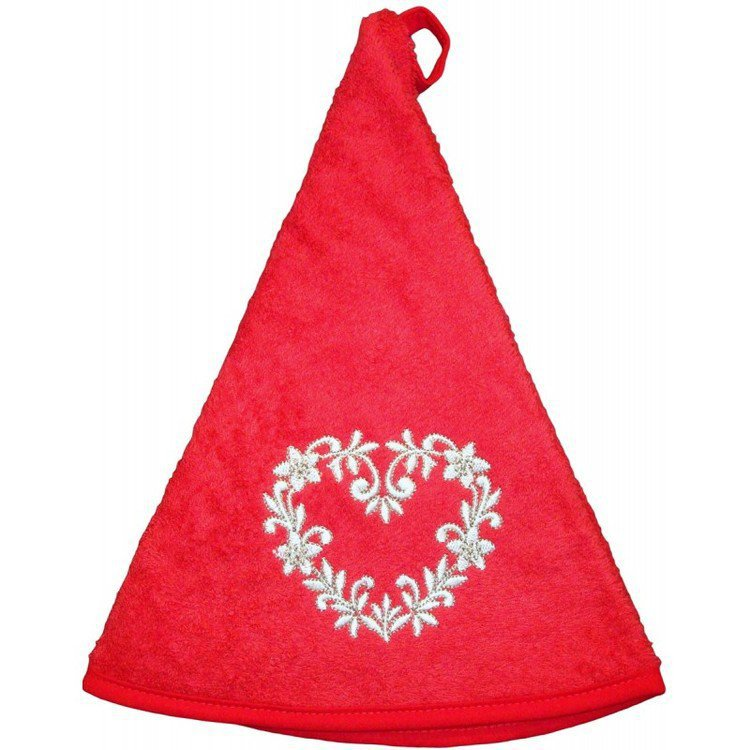 Round Hand Towel-Red