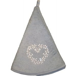 Round Hand Towel-Grey