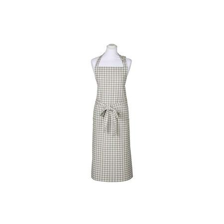 Dove Grey Check Apron