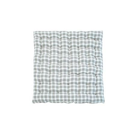 Dove Grey Check Seatpads