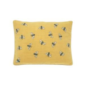 Scrapbook Bumblebee Cushion-Yellow