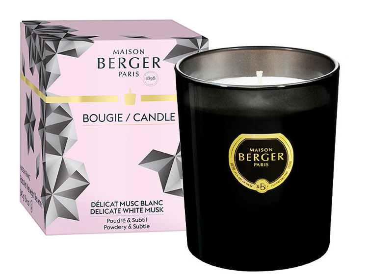 Maison Berger Delicate White Musk Black Crystal Candle