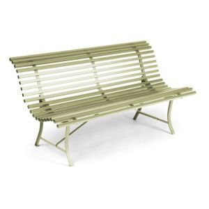 Fermob Louisianne Metal Garden Bench - Willow Green
