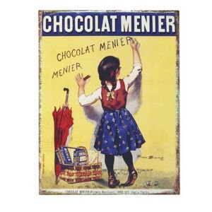 French Enamel Advertsing Sign - Chocolat
