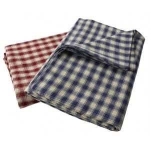 Large Red Check Tablecloth - Rectangular