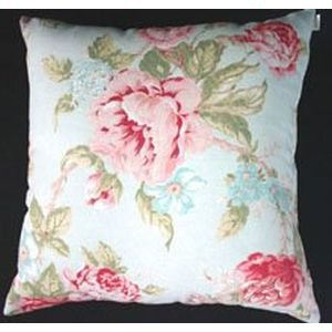 Antique Rose Cushion - Duck Egg