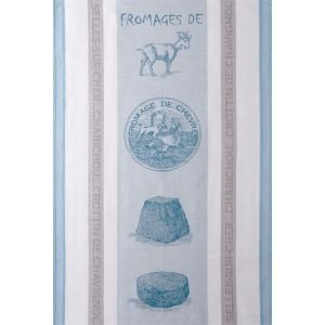 French Tea towel - Goats Cheese White/Jacquard