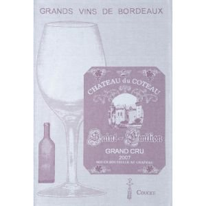 French Tea Towel - Grand Vin Bordeaux