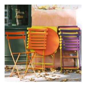 Fermob Bistro Round Table & 2 Bistro Chairs - Metal Garden Furniture Set