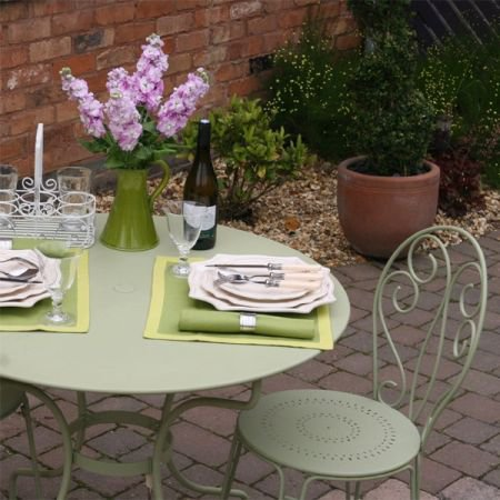 French Garden Furniture Set Opera table 96cm and 4 Montmartre Chairs