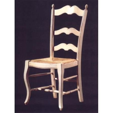 Ivory Provencal Ladderback Chair - Kitchen Furniture
