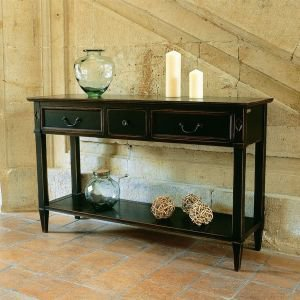 Large French 3 Drawer Console Table