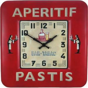 Retro Square  Pastis Clock