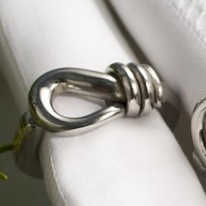 Boxed set of 4 Napkin Rings