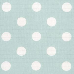 Duck Egg Large Polka Dot Oil Cloth
