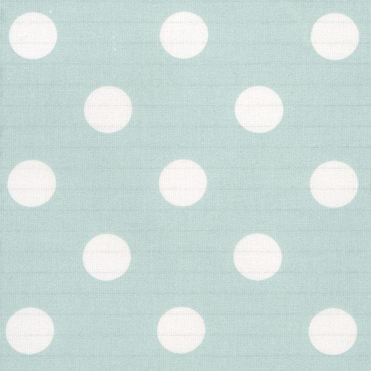 Duck Egg Large Polka Dot Oilcloth Material