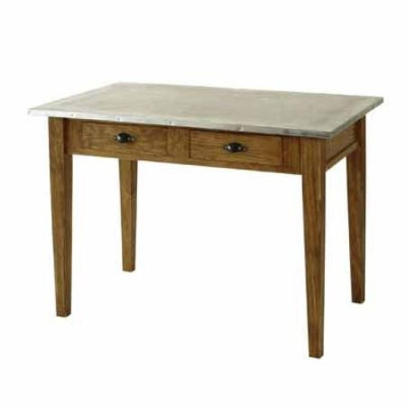 Comptoir de famille zinc top kitchen table kitchen furniture for Kitchen set zink
