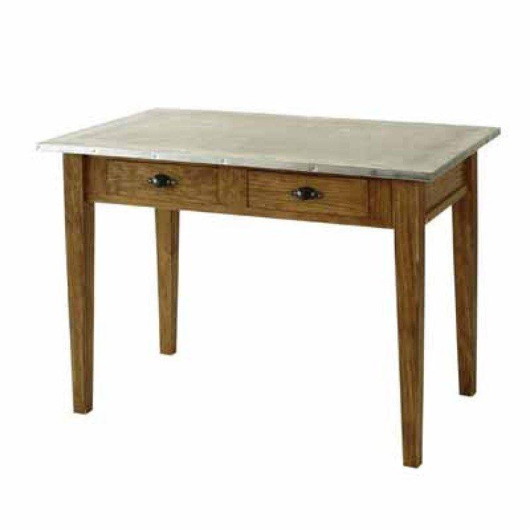 Comptoir de famille zinc top kitchen table - Table comptoir de famille ...