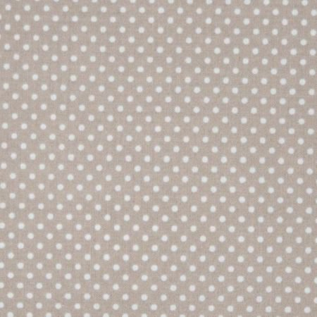 Latte Small Dot Wipe Clean Oilcloth Tablecloth