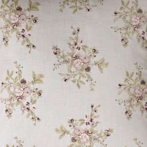 Lavender Grey Floral Oil Cloth